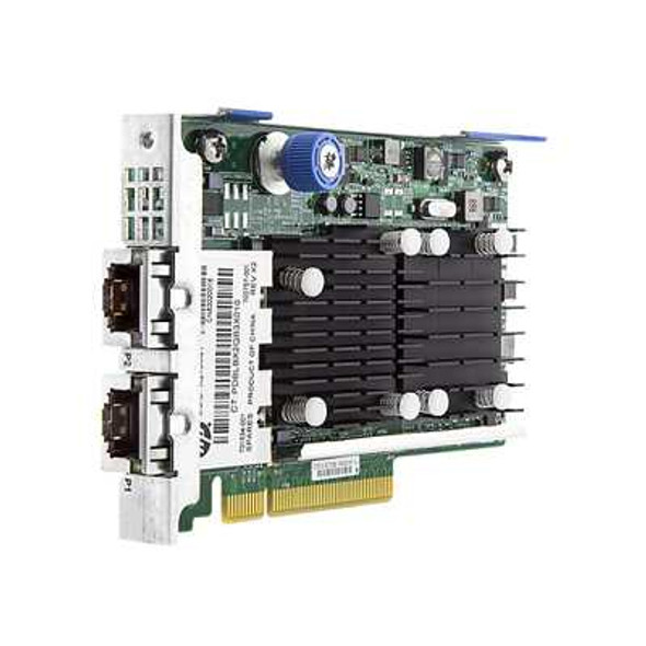HPE FlexFabric 701534-001 Dual Port 10Gbps Ethernet PCI Express 2.0 x8 533FLR-T Network Adapter for ProLiant Gen9 Gen10 DL and Apollo Gen10 XL Servers (New Bulk with 1 Year Warranty)