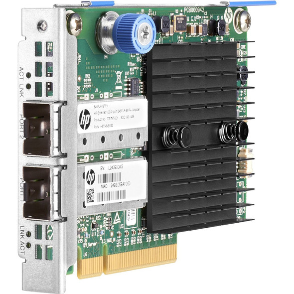 HPE 779799-B21 10Gb Dual Port 546FLR 10Gb Ethernet - SFP+ PCI Express Ethernet Network Adapter for ProLaint Gen8 Gen9 Servers (Brand New with 3 Years Warranty)