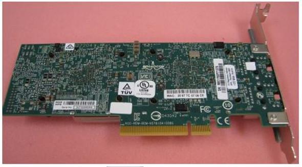 HPE 656596-B21 Dual Port 10Gbps Ethernet PCI Express 2.0 x8 530T Network Adapter for ProLaint Gen9 Gen10 Apollo Gen9 Gen10 Servers (New Bulk with 1 Year Warranty)