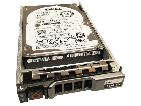 Dell 400-AJQP 1.8TB 10000RPM 2.5inch SFF SAS-12Gbps Hard Drive for PowerEdge and PowerVault Servers (Brand New with 3 Years Warranty)