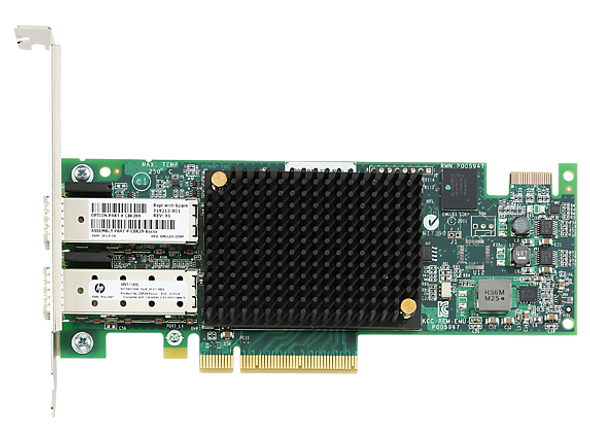 HPE StoreFabric SN1100E 719212-001 16Gb Dual Port PCI Express 3.0 Low Profile Fibre Channel Host Bus Adapter for ProLiant Gen8 Gen9 Servers (Brand New with 3 Years Warranty)