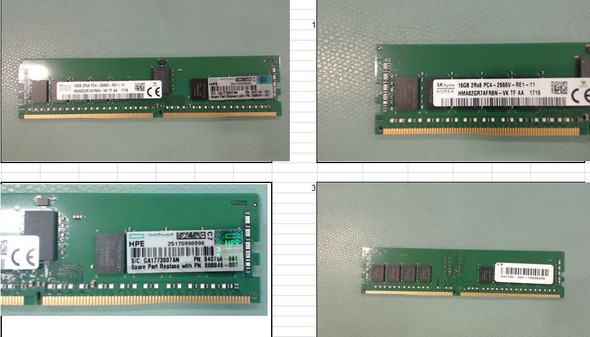 HPE 868846-001 16GB (1x16GB) Dual Rank x8 DDR4 2666MHz CL19 (CAS-19-19-19) ECC Registered PC4-21300 288Pin DIMM SDRAM Smart Memory Kit (Brand New with 3 Years Warranty)