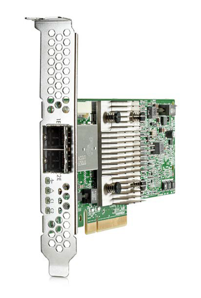 HPE H241 726911-B21 12Gbps (SAS-12Gbps / SATA-6Gbps) Dual Ports PCIe 3.0 x8 Low Profile External Smart Host Bus Adapter for ProLiant Servers (New Bulk with 1 Year Warranty)