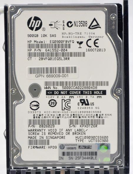 HPE 669009-001 900GB 10000RPM 2.5inch SFF Dual Port SAS-12Gbps Enterprise Hard Drive for Modular Smart Array 1040 SFF SAN Storage (Grade A with Lifetime Warranty)