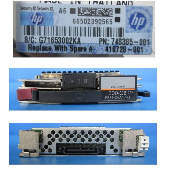 HPE AG425-64201 300GB 15000RPM 3.5inch LFF Fibre Channel-4Gbps 40 Pins Hot-Swap Internal Hard Drive (Grade A with Lifetime Warranty)