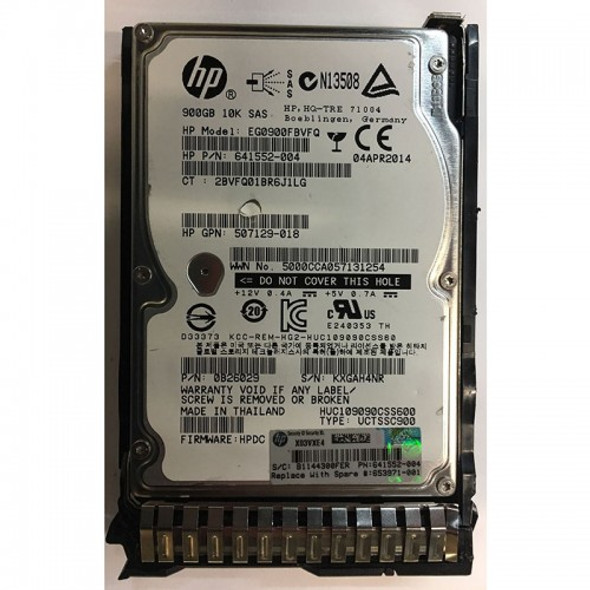 HPE EG0900FBVFQ 900GB 10000RPM 2.5inch SFF Dual Port SAS-6Gbps Enterprise Hard Drive for ProLiant Gen1 to Gen7 Servers and Storage Arrays (Grade A with Lifetime Warranty)