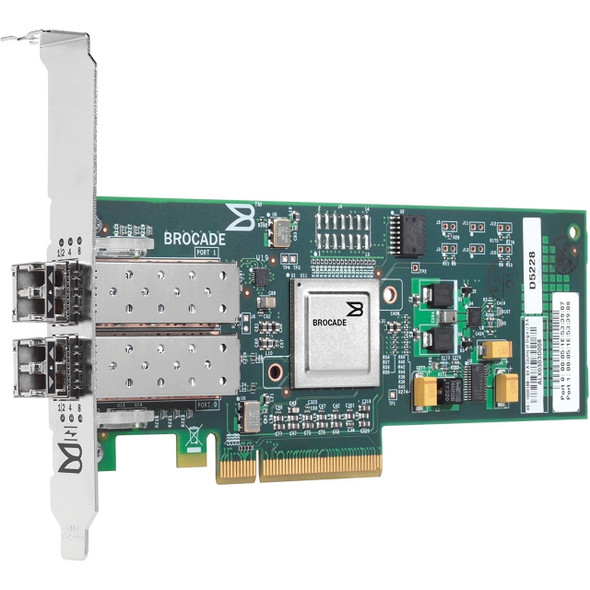 HPE 571519-001 4GB Dual Port PCI Express Fiber Channel Low Profile Host Bus Adapter for StorageWorks and ProLiant Generation1 to Generation7 Servers (New Bulk Pack with 1 Year Warranty)