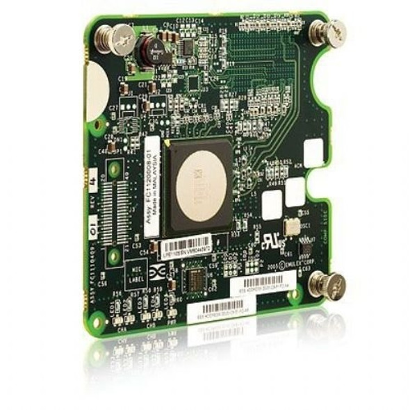 HPE 403621-B21 4GB Dual Port Emulex LPE11005 PCI Express 2.0 x2 FC Host Bus Adapter for HPE C Class Bladesystem (New Bulk Pack with 1 Year Warranty)