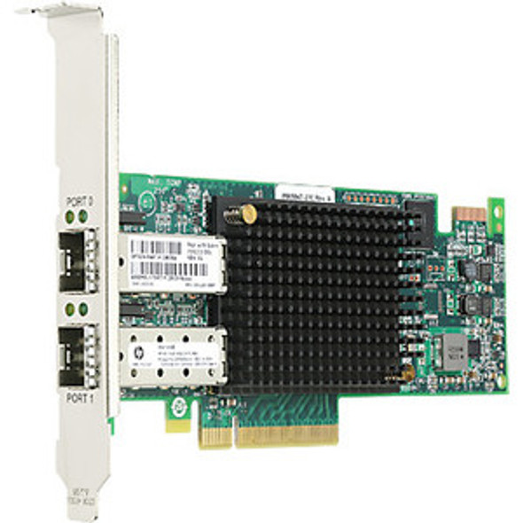 HPE 82E 697890-001 8Gbps Dual Port PCI Express 2.0 x8 Fibre Channel Host Bus Adapter for ProLiant Gen3 to Gen8 Servers (New Bulk Pack with 1 Year Warranty)