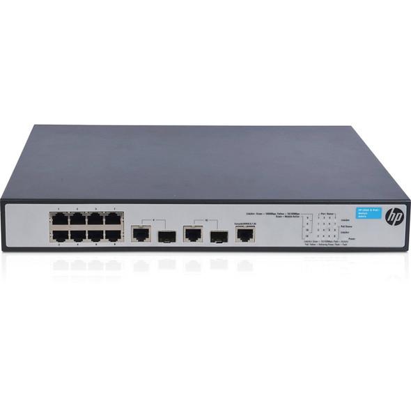 HPE Procurve JG537A 1910-8-G PoE+ Ethernet Ports 2 Combo Gigabit SFP 8 PoE+ Ethernet Ports Managed Switch (Grade A with 90 Days Warranty)