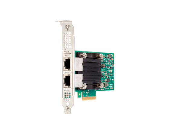 HPE 817738-B21 Ethernet 10Gb Dual Port 562T PCI Express 3.0 x4 Network Adapter for Apollo and ProLiant Gen10 Servers (Brand New with 3 Years Warranty)