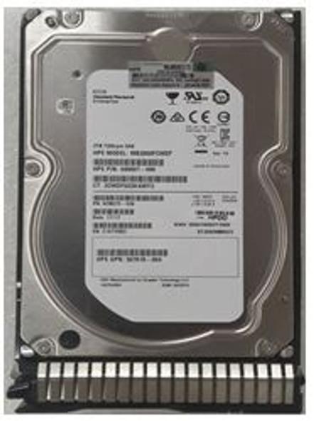 HPE 695507-002-SC 2TB 7200 RPM 3.5inch Large Form Factor Dual Port SAS-6Gbps SC Midline Hard Drive for ProLiant Gen8 Gen9 Gen10 Servers (New Bulk Pack With 1 Year Warranty)