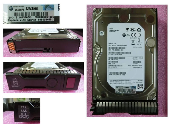HPE 846610-001 6TB 7200RPM 3.5inch LFF 512n Digitally Signed Firmware SAS-12Gbps SC Midline Hard Drive for ProLiant Gen9 Gen10 Servers (Brand New with 3 Years Warranty)