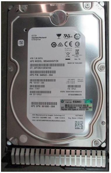 HPE 872772-001 4TB 7200RPM 3.5inch LFF Digitally Signed Firmware SATA-6Gbps SC Midline Hard Drive for ProLiant Gen8 Gen9 Gen10 Servers (New Bulk Pack with 1 Year Warranty)