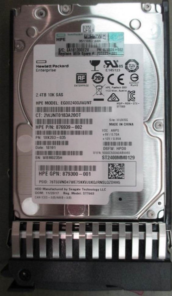 HPE EG002400JWJNN 2.4TB 10000RPM 2.5inch SFF 512e Dual Port SAS-12Gbps Enterprise Hard Drive for MSA 1040/2040 SAN Storage (Brand New with 3 Years Warranty)