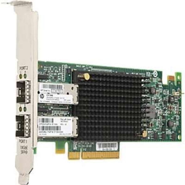 HPE StoreFabric CN1200E 767078-001 10Gb Dual Port Low Profile PCI Express Fibre Channel Converged Network Adapter for ProLaint Gen9 Gen10 Servers (3 Years)