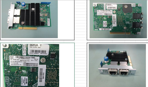 HPE 817745-B21 Ethernet 10Gb Dual Port 562FLR-T PCI Express 3.0 x4 Network Adapter for Apollo and ProLiant Gen10 Servers (Brand New with 3 Years Warranty)