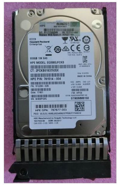 HPE EG0900JEHMB 900GB 10000RPM 2.5inch SFF SAS-12Gbs Enterprise Hard Drive for MSA 1040/2040 SAN Storage (Brand New with 3 Years Warranty)