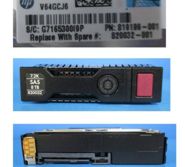 HPE 819199-001-SC 8TB 7200RPM 3.5inch LFF 512e Digitally Signed Firmware SAS-12Gbps SC Midline Hard Drive for ProLaint Gen9 Gen10 Servers (New Bulk with 1 Year Warranty)