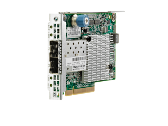 HPE Flexfabric 700749-001 Dual Port 10Gbps Ethernet PCI Express 2.0 x8 534FLR-SFP+ Network Adapter for ProLiant Gen9 Gen10 and Apollo Gen9 Gen10 Servers (3 YR)