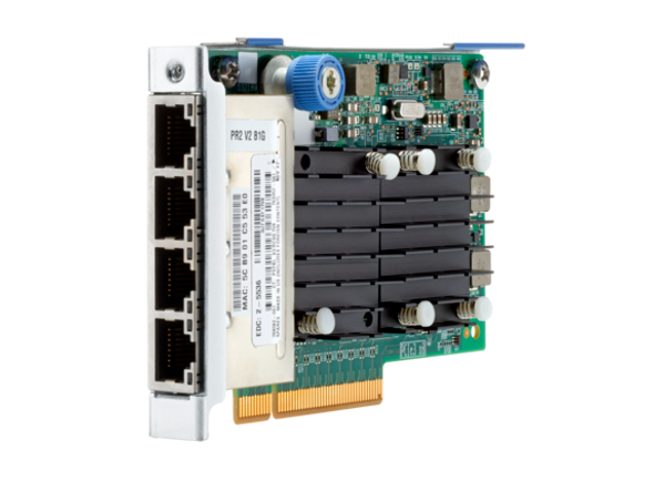 HPE FlexFabric 768082-001 Quad-Port 10Gbps Ethernet PCI Express 3.0 x8 536FLR-T SFP+ Network Adapter for ProLiant Gen9 Gen10 Servers (Brand New with 3 Years Warranty)