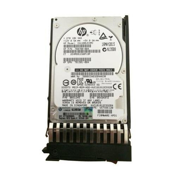 HPE 787648-001 1.2TB 10000RPM 2.5inch SFF Dual Port SAS-12Gbps Enterprise Hard Drive for MSA 1040/2040 SAN Storage (Brand New with 3 Years Warranty)