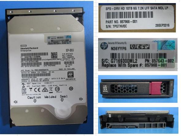 "HPE Helium MB010000GWAYN-LPC 10TB 7200RPM 3.5inch LFF Digitally Signed Firmware SATA-6Gbps LPC Midline Hard Drive for Apollo Gen9 ProLiant Gen10 Servers (New Bulk ""O"" Hour With 1 Year Warranty)"