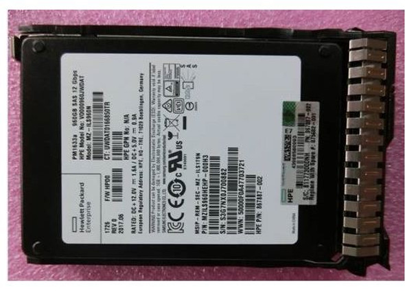 HPE 875682-001 960GB 2.5inch Digitally Signed Firmware SAS-12Gbps SC Read Intensive Solid State Drive for ProLiant Gen9 Gen10 Servers (Brand New With 3 Years Warranty)