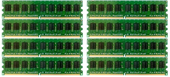 HPE 405478-071 64GB (8x8GB) Dual Rank x4 667MHz ECC Registered CL5 (CAS-5-5-5) PC2-5300 240Pin DIMM DDR2 SDRAM Memory Kit for ProLiant Gen5 Gen6 Gen7 Servers (New Bulk Pack with 1 Year Warranty)