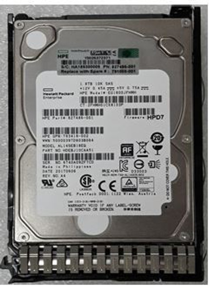 HPE 781515-001-SC 1.8TB 10000RPM 2.5inch SFF 512e Dual Port SAS-12Gbps Enterprise Hard Drive for ProLaint Gen8 Gen9 Gen10 Servers (Brand New with 3 Years Warranty)