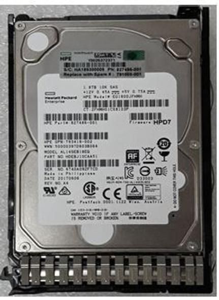 HPE 827486-001-SC 1.8TB 10000RPM 2.5inch SFF 512e Dual Port SAS-12Gbps Enterprise Hard Drive for ProLiant Gen8 Gen9 Gen10 Servers (Brand New with 3 Years Warranty)