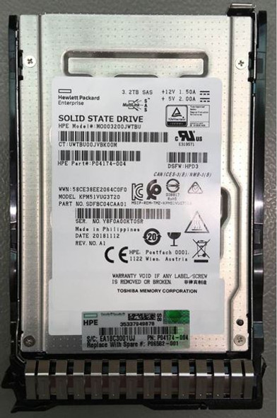 HPE P04537-B21 3.2TB 2.5inch SFF MLC Digitally Signed Firmware SAS-12Gbps Smart Carrier Mixed Use Solid State Drive for ProLiant Gen9 Gen10 Servers (Brand New with 3 Years Warranty)
