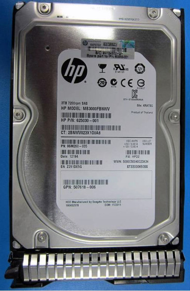 HPE MB3000FBNWV-SC 3TB 7200RPM 3.5inch LFF SAS-6Gbps Dual Port SC Midline Hard Drive for ProLiant Gen8 Gen9 Servers (New Bulk with 1 Year Warranty)