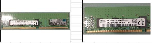 HPE 850879-001 8GB 2666MHz PC4-21300 DIMM 288-Pin Single Rank ECC Registered CL19 DDR4 SDRAM Smart Memory Module for ProLaint Gen10 Servers (New Bulk with 1 Year Warranty)