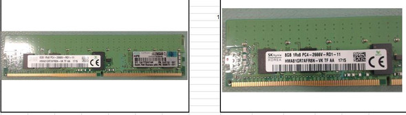 HPE 840755-091 8GB (1x8GB) 2666MHz PC4-21300 DIMM 288-Pin Single Rank ECC Registered CL19 (19-19-19) DDR4 SDRAM Smart Memory Module for HPE Gen10 Servers (New Bulk with 1 Year Warranty)