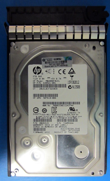 HPE AW590A 2TB 7200RPM 3.5inch LFF Dual Port SAS-6Gbps Midline Hard Drive for EVA P6000 Series Storage (Brand New with 3 Years Warranty)