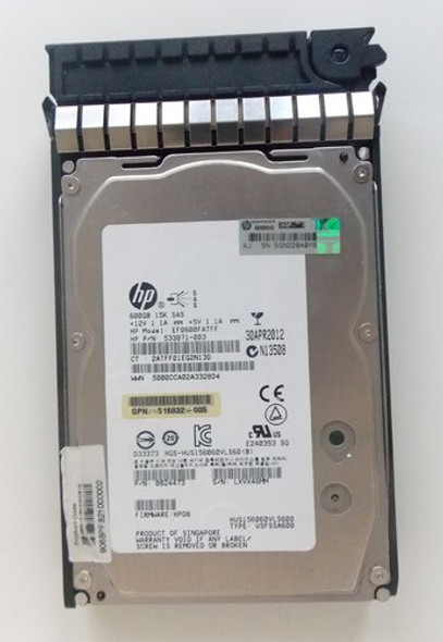 HPE AP872A 600GB 15000RPM 3.5inch Large Form Factor Dual Port SAS-6Gbps Midline Hard Drive for HPE EVA P6000 Series Storage (Grade A with Lifetime Warranty)