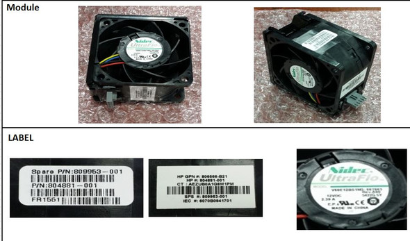 HPE 809953-001 Apollo 4200 Gen9 Redundant Fan Kit (New Bulk with 1 Year Warranty)