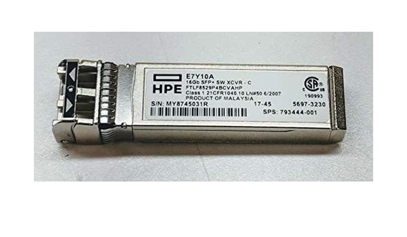 HPE E7Y10A 16Gb Fibre Channel Short Wave SFP+ Transceiver Module (New Bulk with 1 Year Warranty)