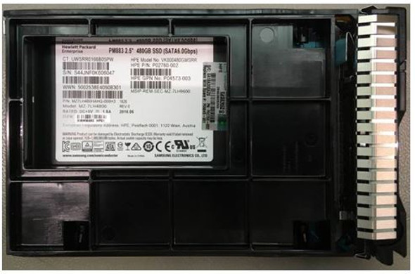"""HPE P09845-001 480GB 3.5inch LFF Digitally Signed Firmware SATA-6Gbps SCC Read Intensive Solid State Drive for ProLiant Gen9 Gen10 Servers (New Bulk """"O"""" Hour With 1 Year Warranty)"""