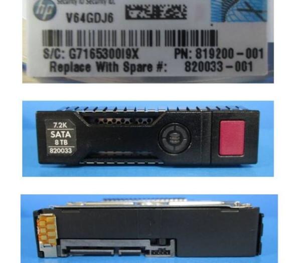 HPE 877683-002-SC 8TB 7200RPM 3.5inch LFF 512e SATA-6Gbps Smart Carrier Midline Hard Drive for ProLiant Gen8 Gen9 Gen10 Servers (New Bulk Pack with 1 Year Warranty)