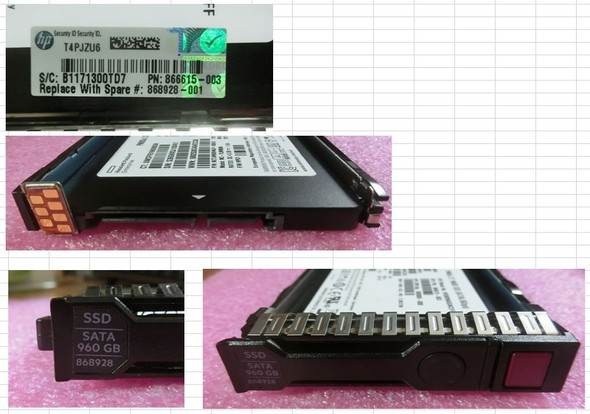 HPE 868928-001 960GB 2.5inch SFF Digitally Signed Firmware SATA-6Gbps SC Read Intensive Solid State Drive for ProLiant Gen9 Gen10 Servers (Brand New with 3 Years Warranty)
