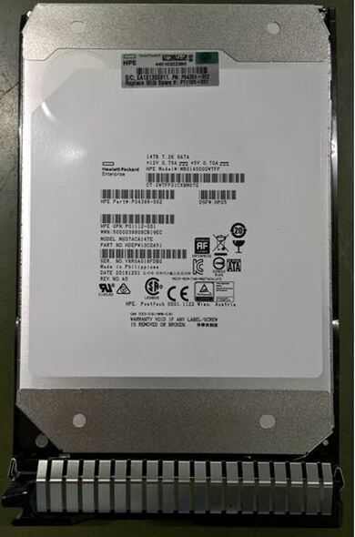 HPE Helium P09163-B21 14TB 7200RPM 3.5inch LFF 512e Digitally Signed Firmware SATA-6Gbps Smart Carrier Midline Hard Drive for ProLiant Gen8 Gen9 Gen10 Servers (Brand New with 3 Years Warranty)