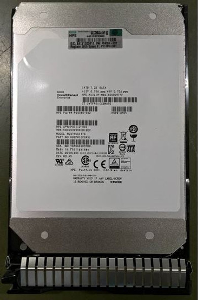 HPE Helium P04386-002-SC 14TB 7200RPM 3.5inch LFF 512e Digitally Signed Firmware SATA-6Gbps Smart Carrier Midline Hard Drive for ProLiant Gen10 Servers (New Bulk with 1 Year Warranty)