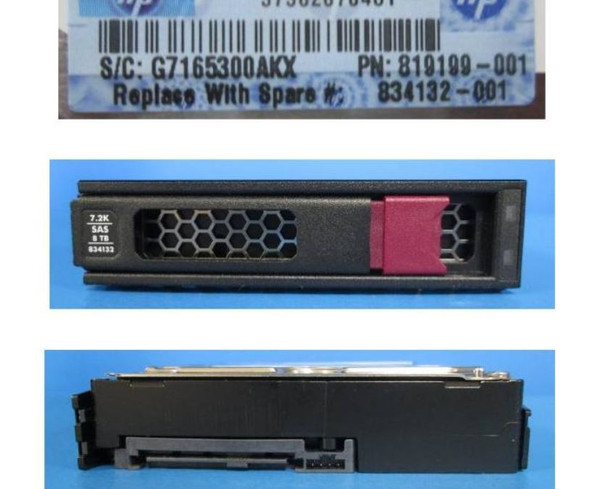HPE 819199-001-LP 8TB 7200RPM 3.5inch LFF Digitally Signed Firmware SAS-12Gbps LPC Midline Hard Drive for ProLiant Gen9 Gen10 Servers (New Bulk Pack With 1 Year Warranty)
