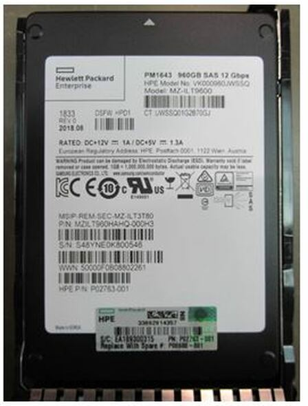 HPE P06584-B21 960GB 2.5inch SFF Digitally Signed Firmware SAS-12Gbps SC Read Intensive Solid State Drive for ProLaint Gen9 Gen10 Servers (Brand New with 3 Years Warranty)