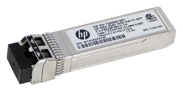 HPE 720999-001 16Gbps Short Wave Fibre Channel SFP+ 4-Pack Transceiver Module for Modular Smart Array 2040 SAN Storage (Brand New with 3 Years Warranty)