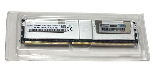 HPE 647654-081 32GB (1x32GB) Quad Rank x4 PC3L-10600 DDR3-1333 LRDIMM CL9 (CAS-9-9-9) LP Memory Kit for ProLiant Gen8 Servers (New Bulk with 1 Year Warranty)