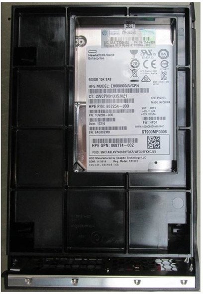HPE 867254-003-LPC 900GB 15000RPM 3.5inch LFF Digitally Signed Firmware 512n SAS-12Gbps Enterprise Hard Drive for ProLiant Gen9 Gen10 Servers (Brand New with 3 Years Warranty)