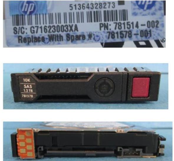 HPE 781518-B21 1.2TB 10000RPM 2.5inch SFF SAS-12Gbps SC Enterprise Hard Drive for ProLaint Gen8 Gen9 Gen10 Servers (Brand New with 3 Years Warranty)